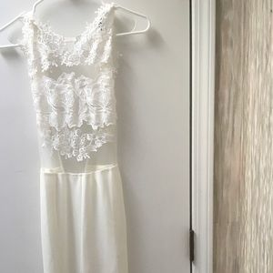 White Fitted lace jumpsuit